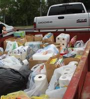 A truckload of food for Ixonia Food Pantry
